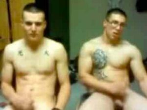 Fit Soldiers Masturbate On The CB