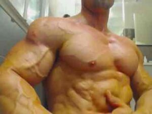 Vascular Bodybuilder Quick Muscle Worship Session