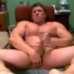Bodybuilder Daddy Plays With Butt And Cock
