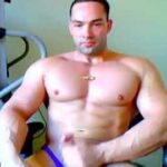 Straight Muscle Cam Guy Flex And Gym Masturbation