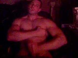 Muscular Cam Dude Masturbates And Smokes