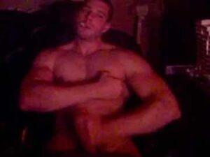 Muscular Cam Dude Masturbates And Smokes