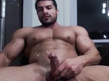 Huge Muscle Cam Dude Cum