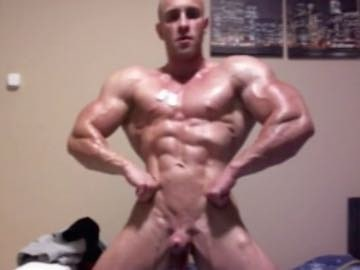 Jock Muscle Flexing Gay Cam